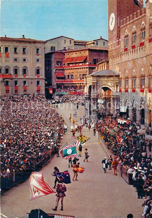 AK / Ansichtskarte Siena Palio Sbandierata  Siena