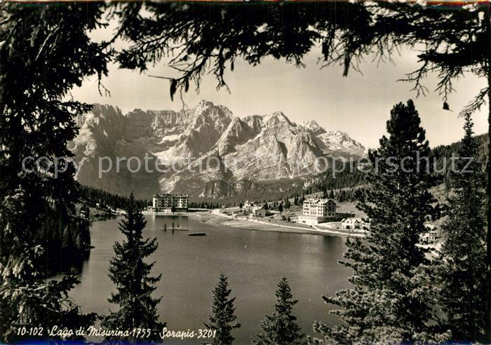 AK / Ansichtskarte Lago_di_Misurina Sarapis Lago_di_Misurina