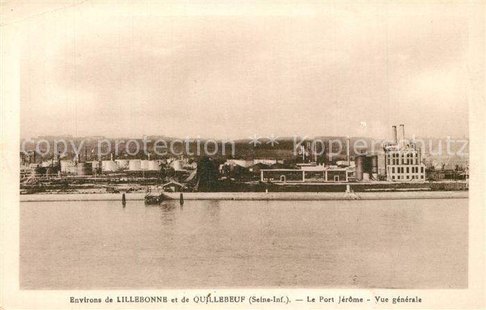 AK / Ansichtskarte Lillebonne Vue generale du Port Jerome Lillebonne
