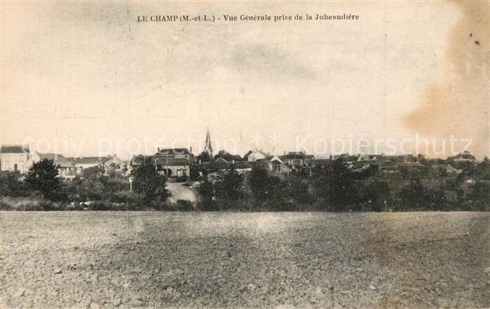 AK / Ansichtskarte Le_Champ_Maine_et_Loire Vue generale prise de La Jubeaudiere