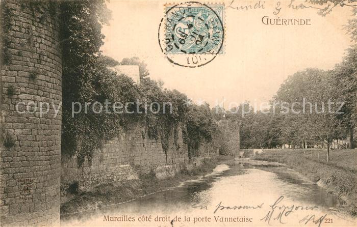 AK / Ansichtskarte Guerande Murailles cote droit de la Porte Vannetaise Guerande