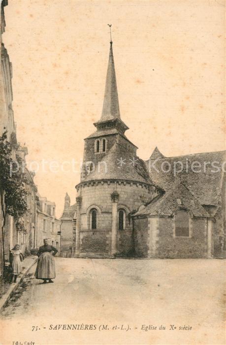 AK / Ansichtskarte Savennieres Eglise du Xe siecle Kirche Savennieres
