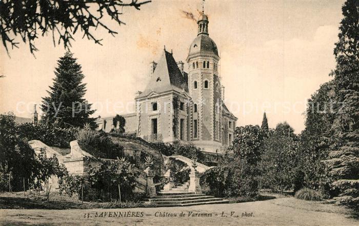 AK / Ansichtskarte Savennieres Chateau de Varennes Schloss Savennieres