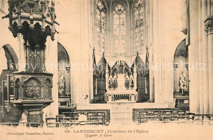 AK / Ansichtskarte Landemont Interieur de l eglise Landemont