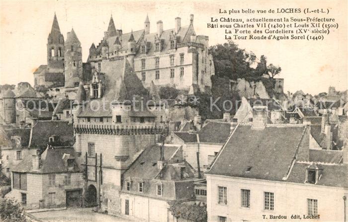 AK / Ansichtskarte Loches_Indre_et_Loire Vieille ville Chateau Loches_Indre_et_Loire