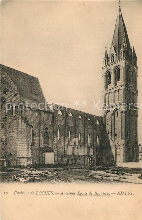 AK / Ansichtskarte Loches_Indre_et_Loire Ancienne Eglise de Beaulieu Loches_Indre_et_Loire
