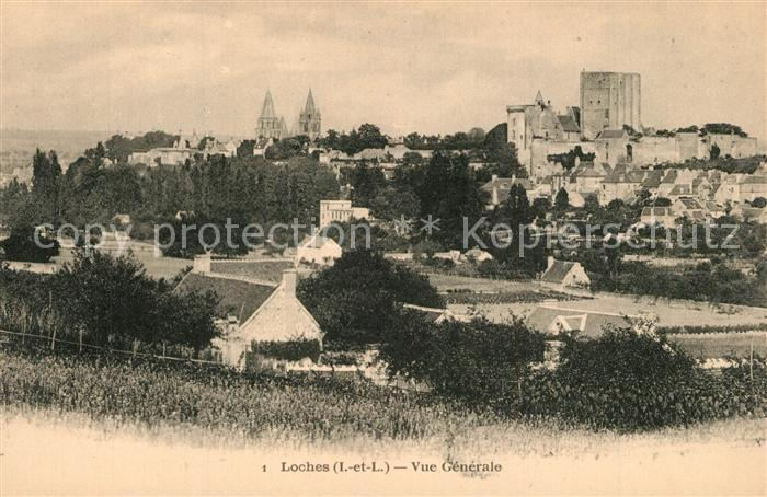AK / Ansichtskarte Loches_Indre_et_Loire Vue generale vers le Chateau Loches_Indre_et_Loire