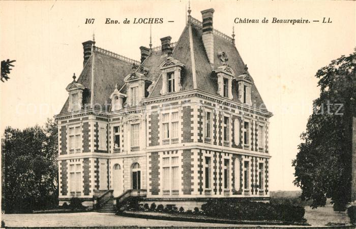 AK / Ansichtskarte Loches_Indre_et_Loire Chateau de Beaurepaire Loches_Indre_et_Loire