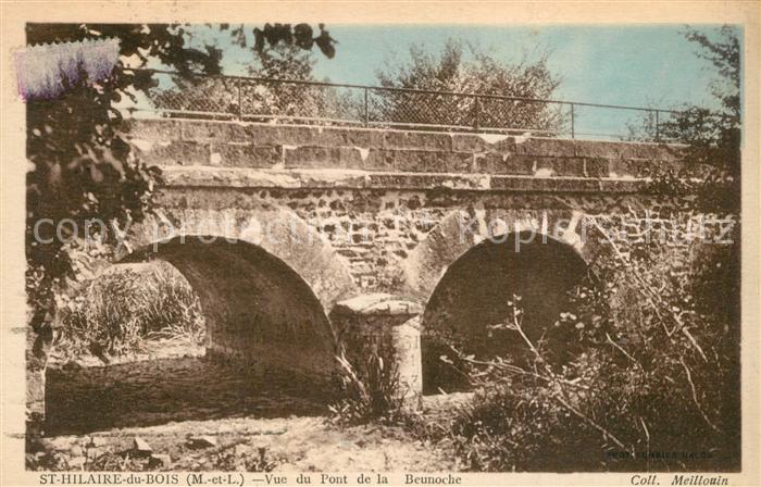 AK / Ansichtskarte Saint Hilaire du Bois_Maine_et_Loire Vue du pont de la Beunoche