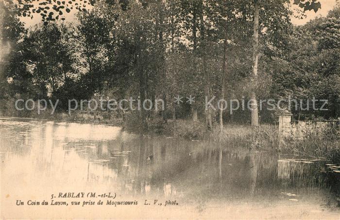 AK / Ansichtskarte Rablay sur Layon Un coin du Layon vue prise de Moquesouris Rablay sur Layon