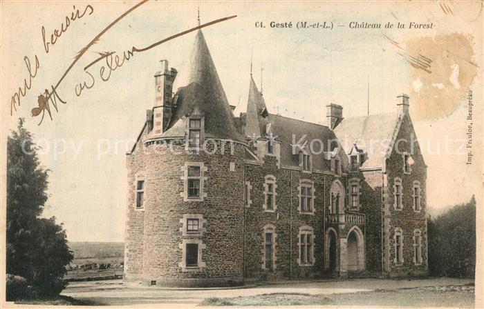 AK / Ansichtskarte Geste Chateau de la Forest Schloss Geste