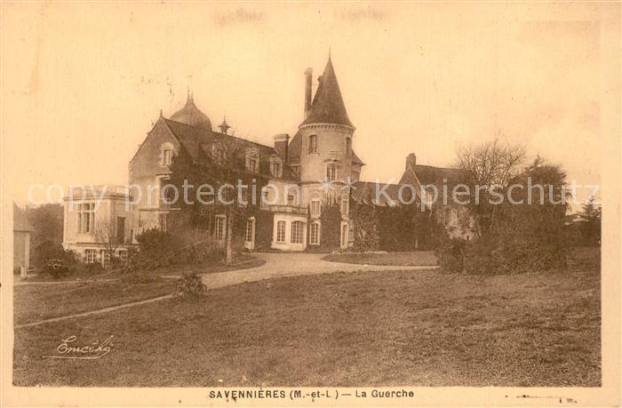 AK / Ansichtskarte Savennieres Domaine de La Guerche Chateau Savennieres