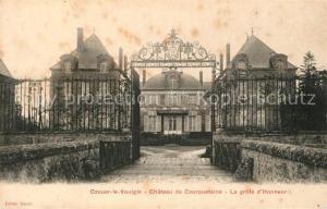 AK / Ansichtskarte Ozouer le Voulgis Chateau de Courquetaine Grille d Honneur Ozouer le Voulgis