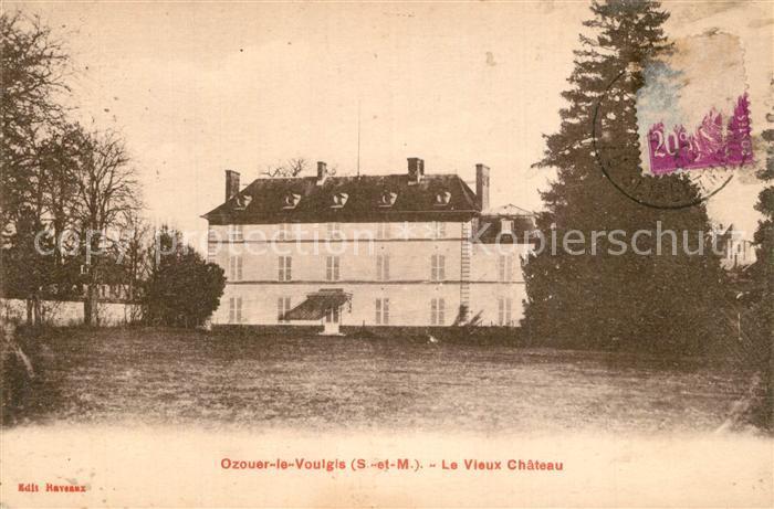 AK / Ansichtskarte Ozouer le Voulgis Vieux Chateau Schloss Ozouer le Voulgis
