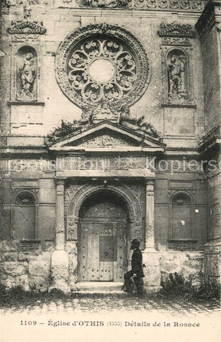 AK / Ansichtskarte Othis Eglise Details de la Rosace Othis