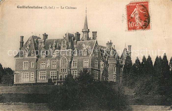 AK / Ansichtskarte Gaillefontaine Chateau Schloss Gaillefontaine