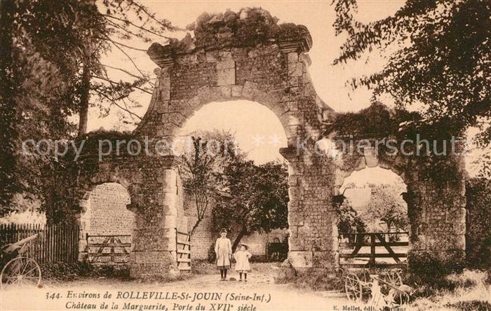 AK / Ansichtskarte Rolleville Chateau de la Marguerite Porte du XVIIe siecle Rolleville