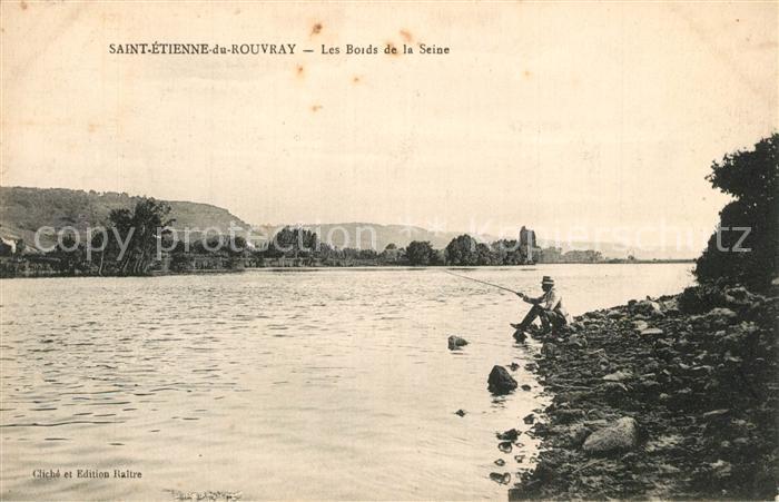 AK / Ansichtskarte Saint Etienne du Rouvray Les bords de la Seine pecheur Saint Etienne du Rouvray