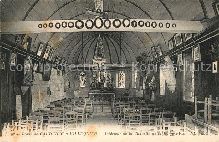 AK / Ansichtskarte Villequier Interieur de la Chapelle de la Barre y Va Villequier