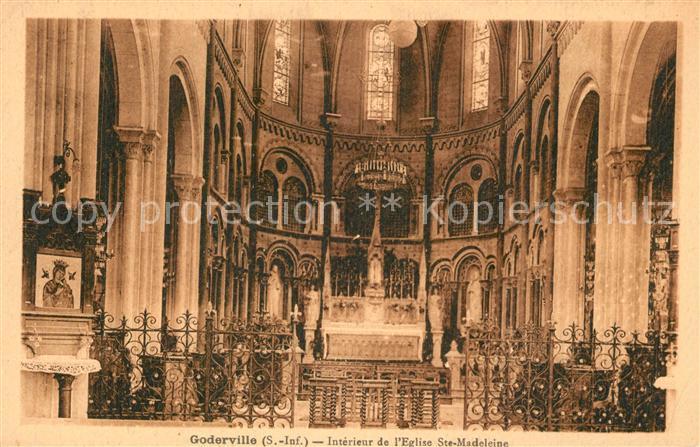 AK / Ansichtskarte Goderville Interieur de l Eglise Sainte Madeleine Goderville
