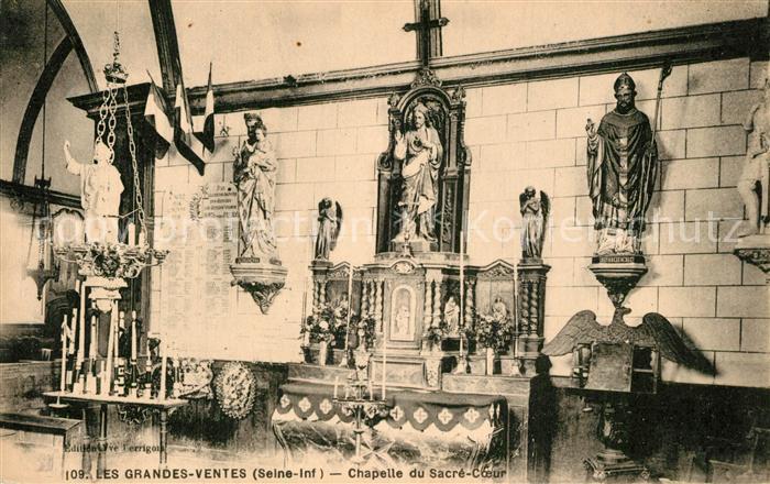 AK / Ansichtskarte Les_Grandes Ventes Interieur de la Chapelle du Sacre Coeur Les_Grandes Ventes