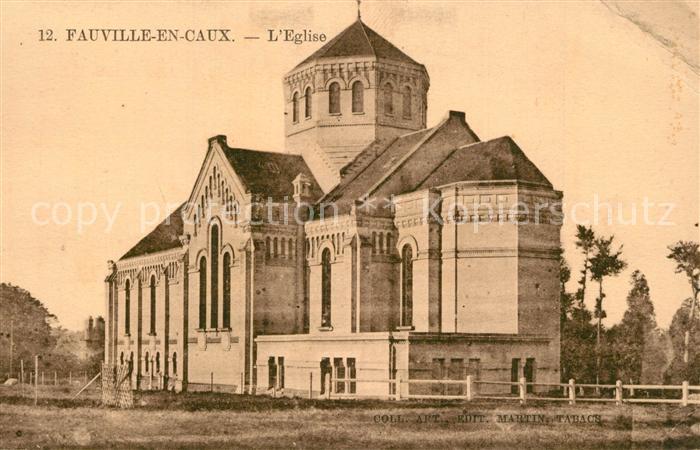 AK / Ansichtskarte Fauville en Caux Eglise Fauville en Caux
