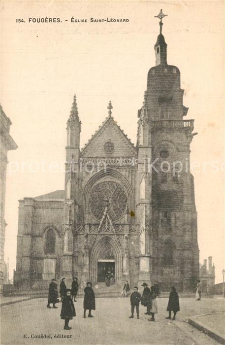 AK / Ansichtskarte Fougeres Eglise Saint Leonard Fougeres 0