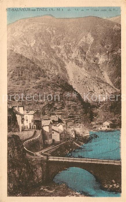 AK / Ansichtskarte Saint Sauveur sur Tinee Vieux pont de Roure Montagnes Saint Sauveur sur Tinee