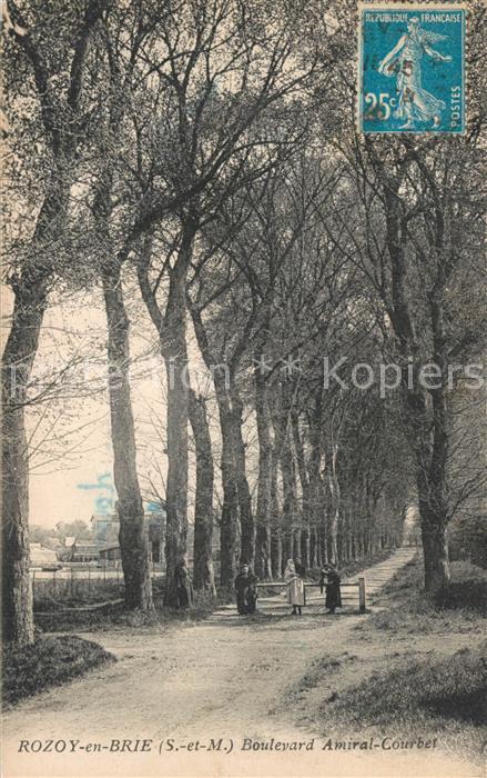 AK / Ansichtskarte Rozoy_en_Brie Boulevard Amiral Courbet Rozoy_en_Brie
