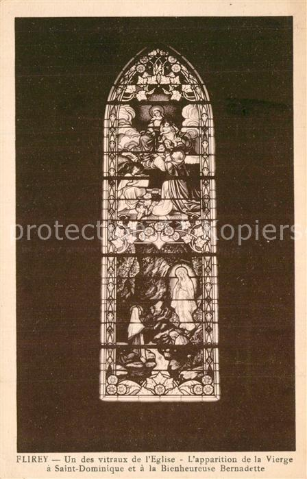 AK / Ansichtskarte Flirey Un des vitraux de l eglise Apparition de la Vierge Kirchenfenster Flirey