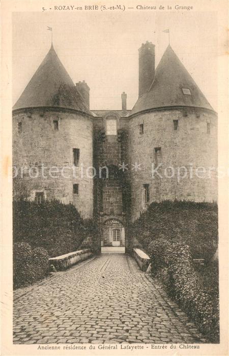 AK / Ansichtskarte Rozay en Brie Chateau de la Grange Rozay en Brie