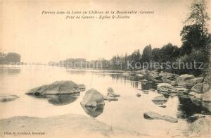 AK / Ansichtskarte Gennes_Maine et Loire Pierres dans la Loire au Chateau de la Boussiniere Gennes Maine et Loire