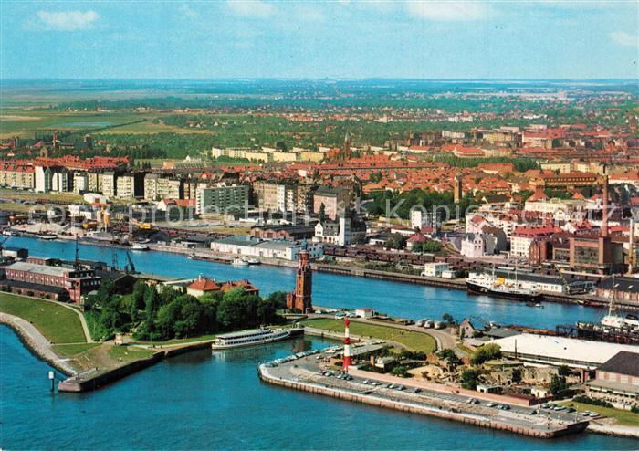 AK / Ansichtskarte Bremerhaven Fliegeraufnahme mit Tiergrotten Bremerhaven