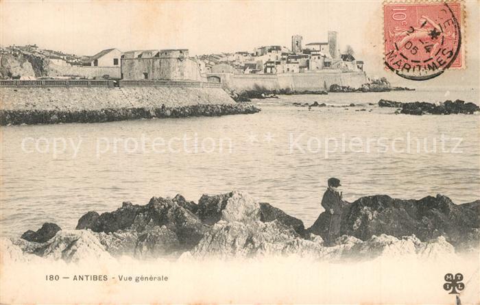 AK / Ansichtskarte Antibes_Alpes_Maritimes Vue generale Cote d Azur Antibes_Alpes_Maritimes