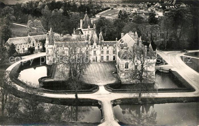 AK / Ansichtskarte Saint Symphorien_Eure Chateau d Esclimont Bassin vue aerienne Saint Symphorien Eure
