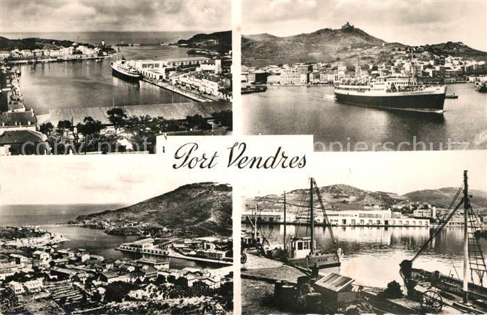 AK / Ansichtskarte Port Vendres Vue generale Port Gare Maritime Courrier d Algerie Cote Vermeille Port Vendres