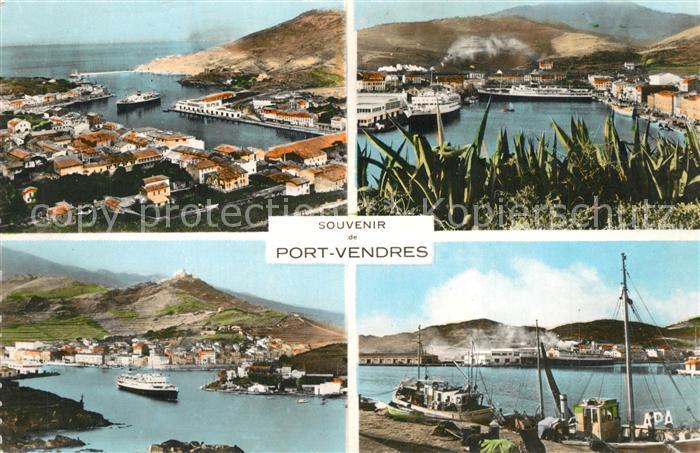 AK / Ansichtskarte Port Vendres en parcourant la Cote Vermeille Port Port Vendres