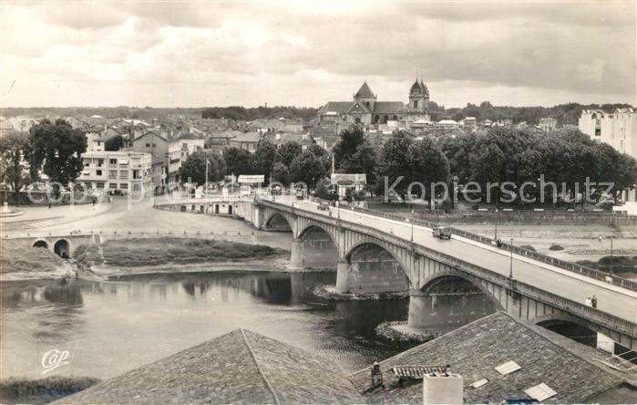 AK / Ansichtskarte Dax_Landes Vue generale Pont sur l Adour Dax_Landes
