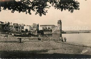AK / Ansichtskarte Collioure Une jolie vue Plage Chateau Collioure