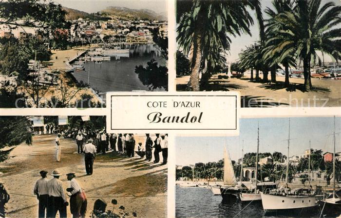 AK / Ansichtskarte Bandol Port Promenade Jeu de Boule Cote d Azur Bandol