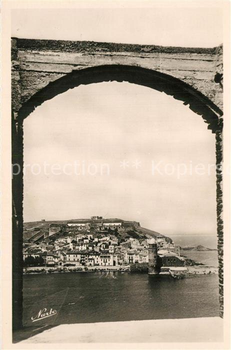 AK / Ansichtskarte Collioure Vue du Fort Eglise Saint Vincent Collioure