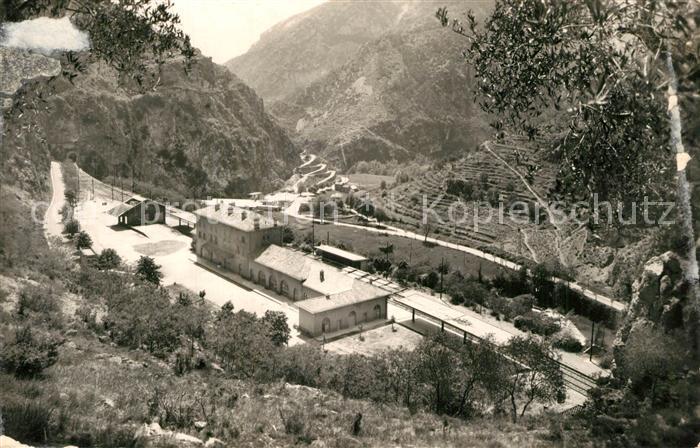 AK / Ansichtskarte Fontan La Gare au fond le Chemin de Napoleon Alpes Fontan