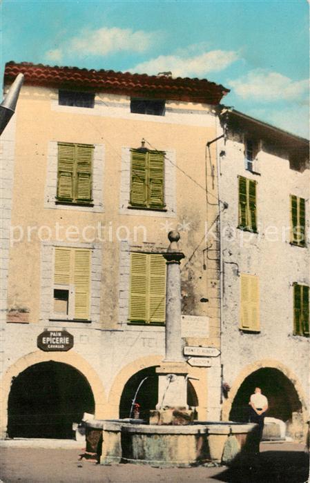 AK / Ansichtskarte Le_Broc_Alpes Maritimes Place de la Fontaine Le_Broc_Alpes Maritimes