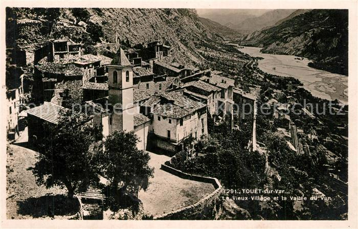 AK / Ansichtskarte Touet sur Var Panorama du vieux village et Vallee du Var Touet sur Var