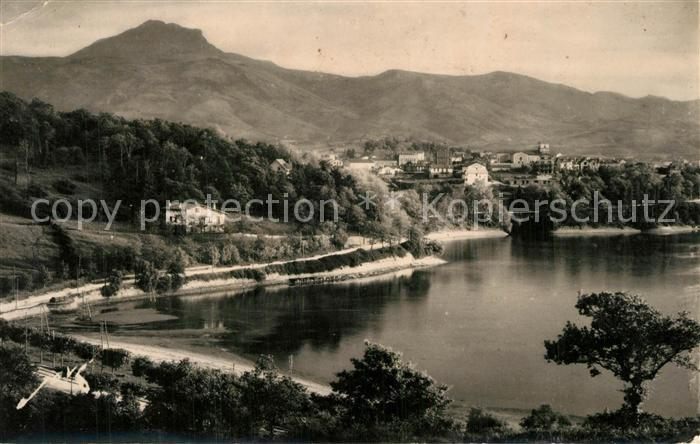 AK / Ansichtskarte Hendaye_Pyrenees_Atlantiques Le Pic de la Haya domine la ville Hendaye_Pyrenees