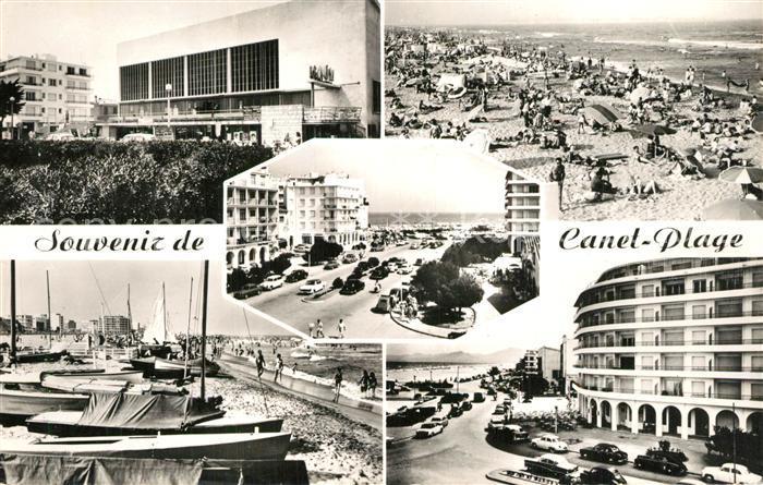 AK / Ansichtskarte Canet_Plage Casino Plage Front de mer Canet_Plage