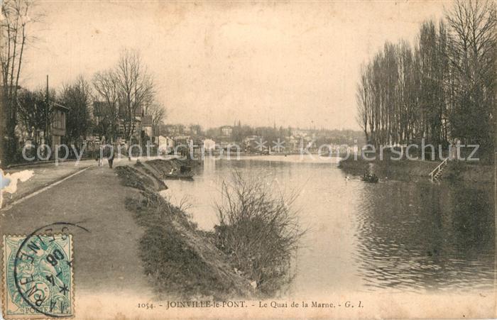 AK / Ansichtskarte Joinville le Pont Quai de la Marne Joinville le Pont