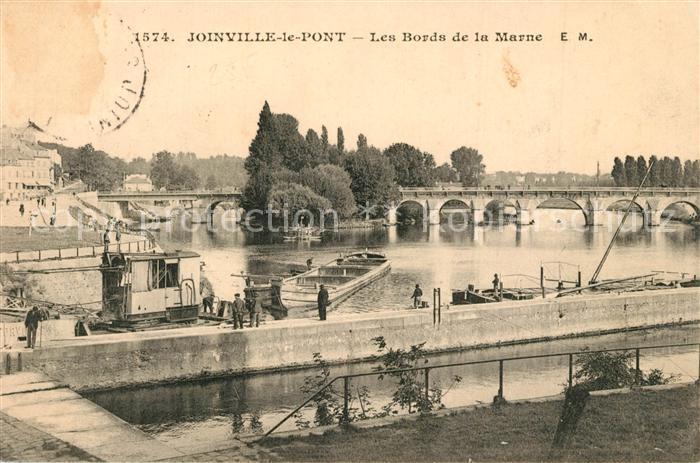 AK / Ansichtskarte Joinville le Pont Les bords de la Marne Joinville le Pont