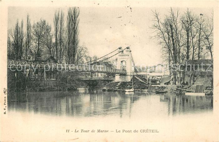 AK / Ansichtskarte Creteil Pont sur la Marne Creteil