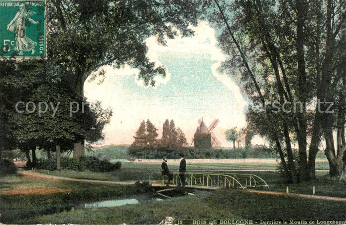AK / Ansichtskarte Bois_de_Boulogne Derriere le Moulin de Longchamp Bois_de_Boulogne